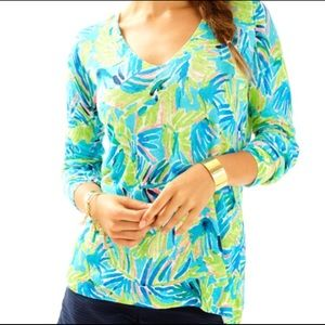 Lilly Pulitzer Liesel Sweater Serenity Now Reduced